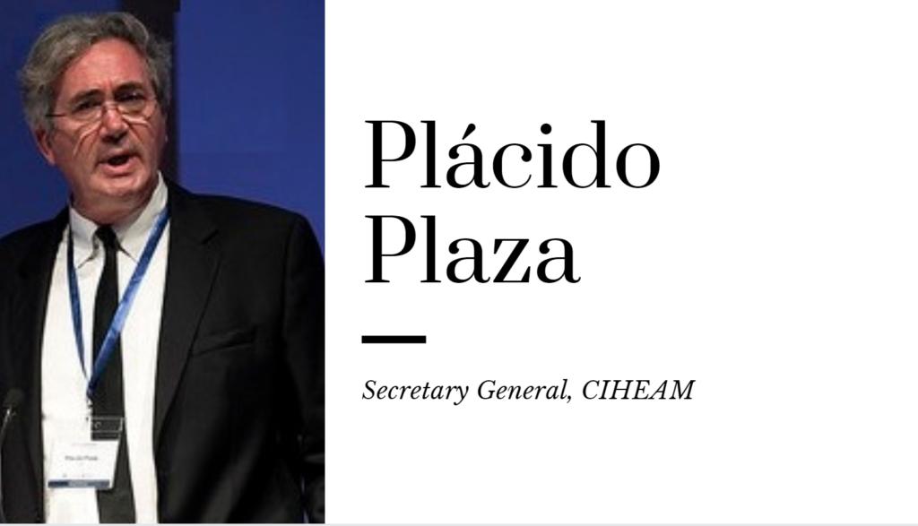 Plácido Plaza, Secretaire Général du CIHEAM