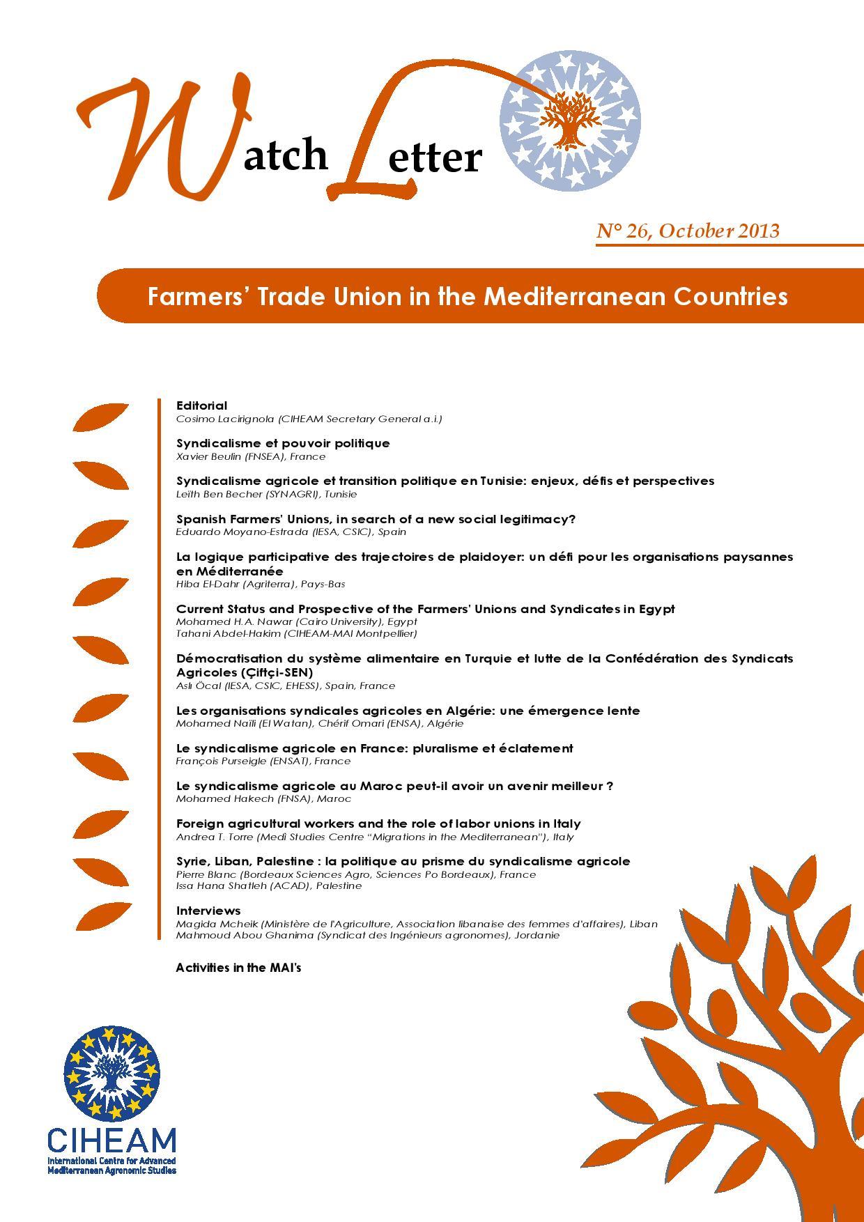WL 26 Farmers' Trade Union in the Mediterranean Countries