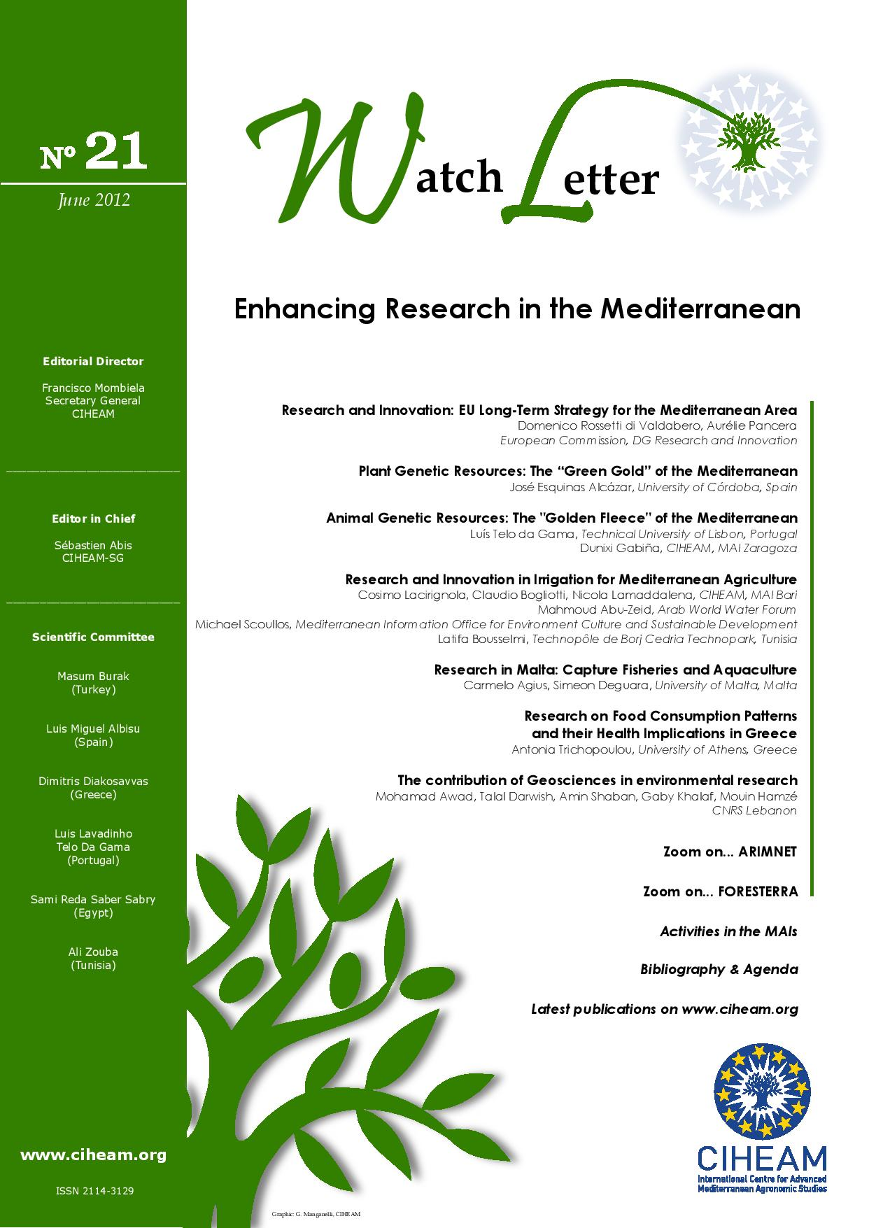 WL 21 Enhancing Research in the Mediterranean