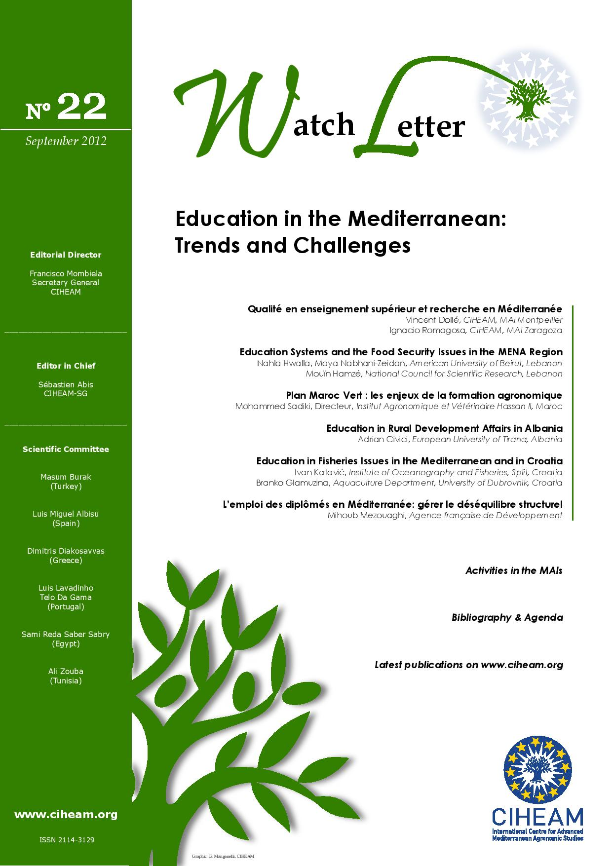 WL 22 Education in the Mediterranean: Trends and Challenges