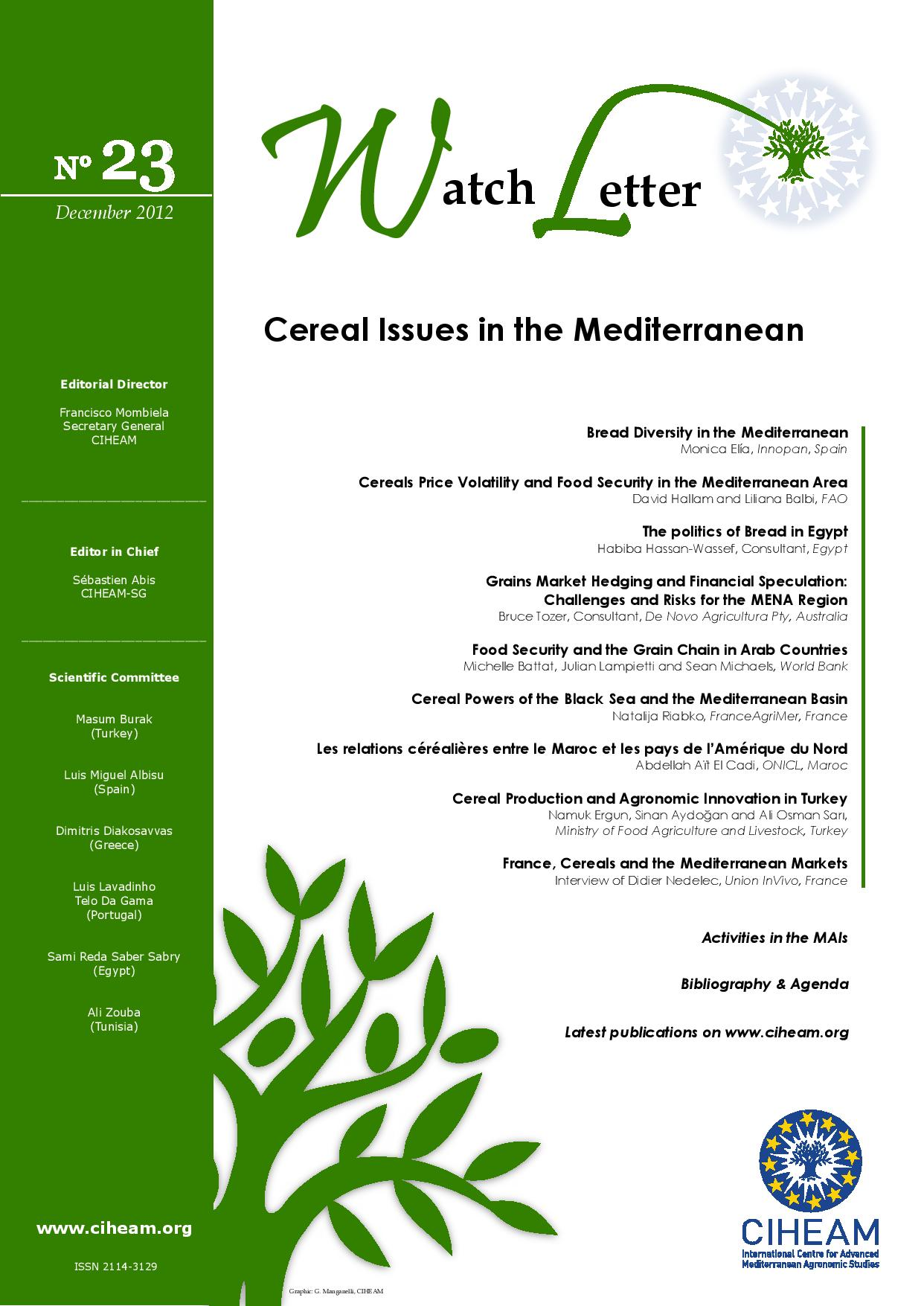 WL 23 Cereal Issues in the Mediterranean