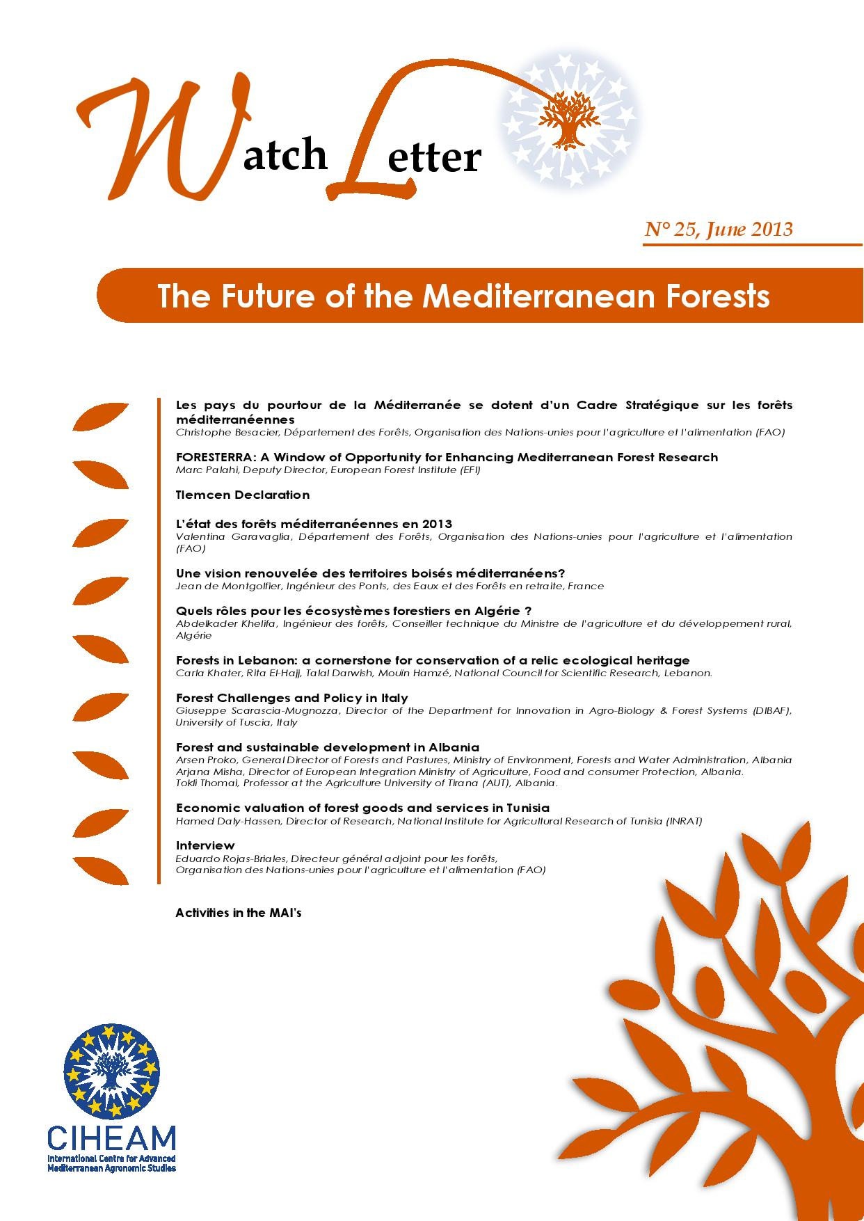 WL 25 The Future of the Mediterranean Forests