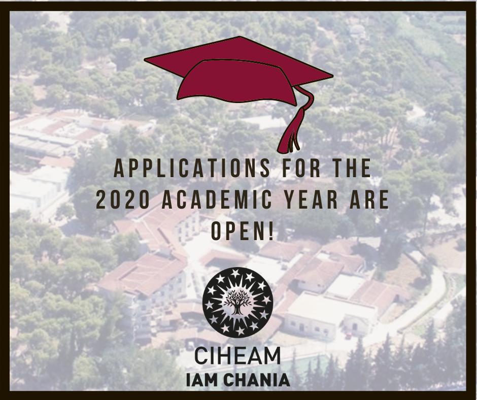 Applications for admission to the MSc Programs of CIHEAM CHANIA