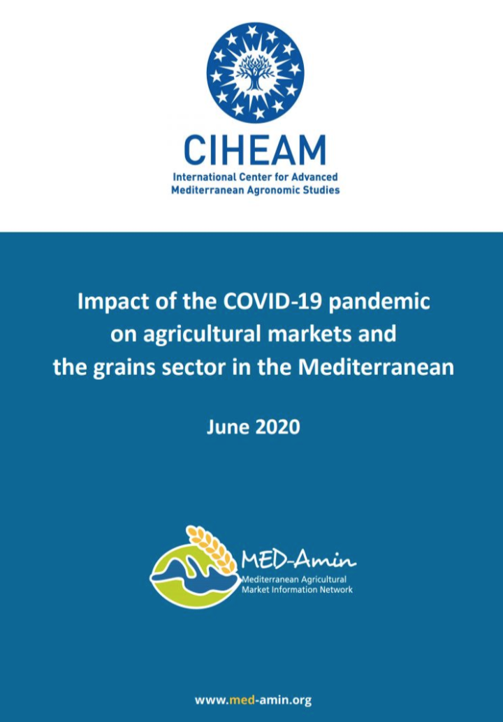MED-Amin : Impact of the COVID-19 pandemic on agricultural markets and the grains sector in the Mediterranean
